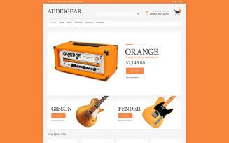 Audio Store Responsive Magento Theme