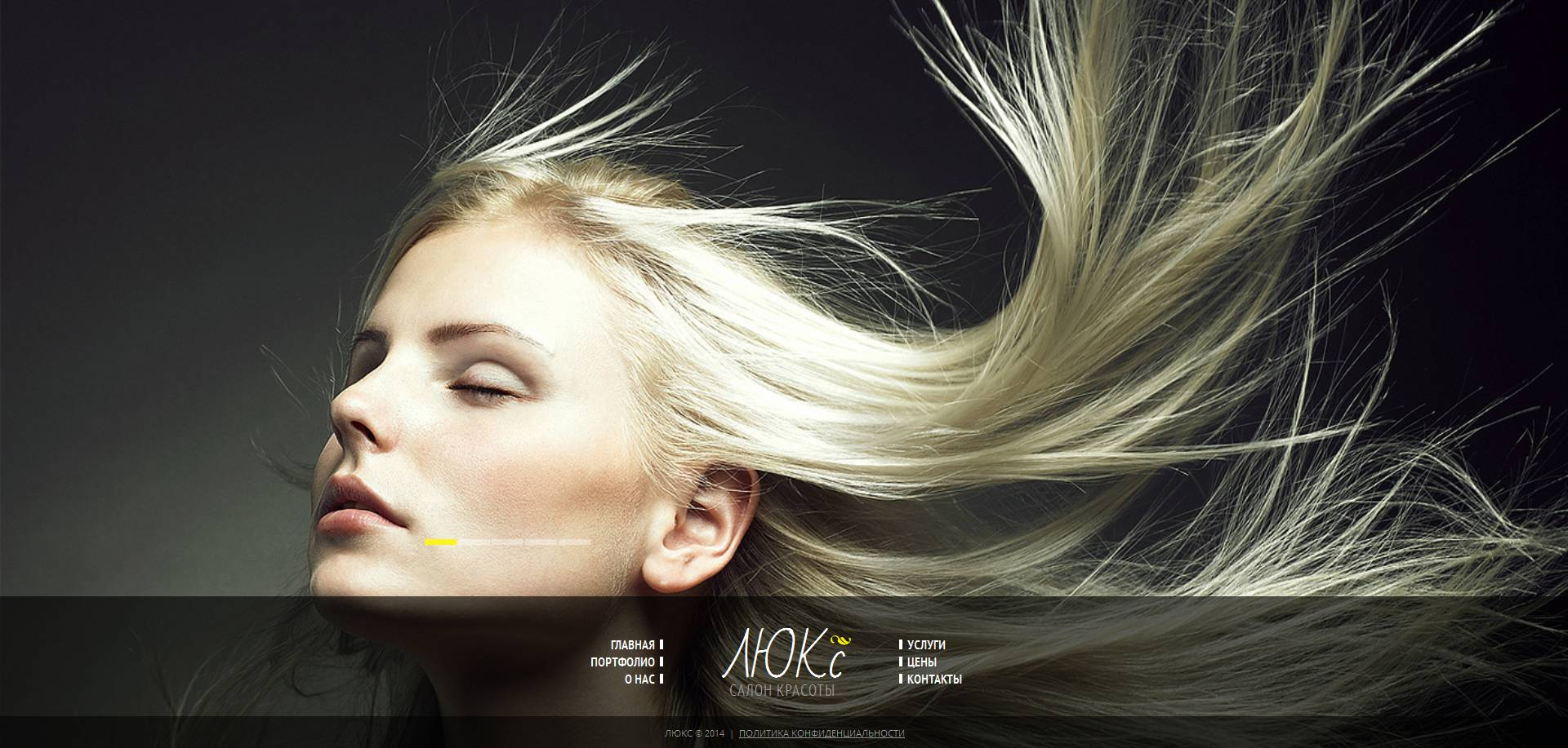 Beauty Salon Moto CMS HTML Template Ru