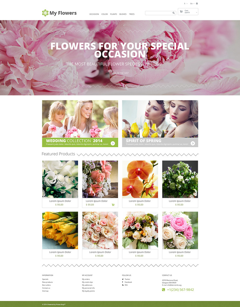 Bouquet Design Studio PrestaShop Theme New Screenshots BIG