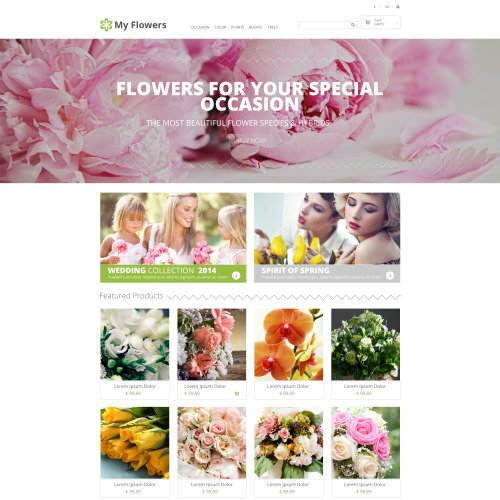 My Flowers - Responsive PrestaShop Template