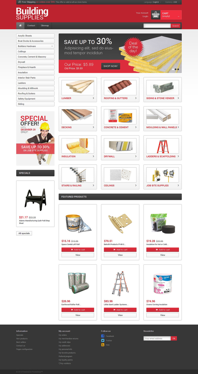 Building Supplies PrestaShop Theme New Screenshots BIG
