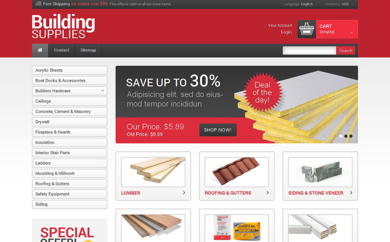 Building Supplies PrestaShop Theme