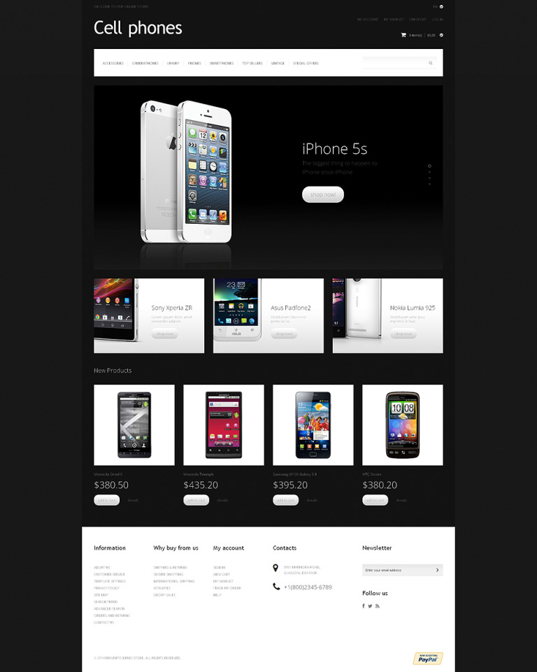 Cell Phones Magento Theme New Screenshots BIG