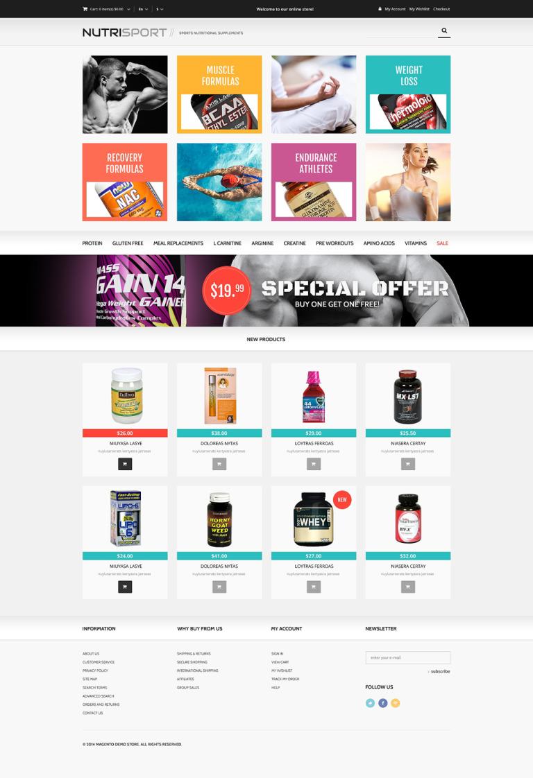 Drug Store Responsive Magento Theme New Screenshots BIG