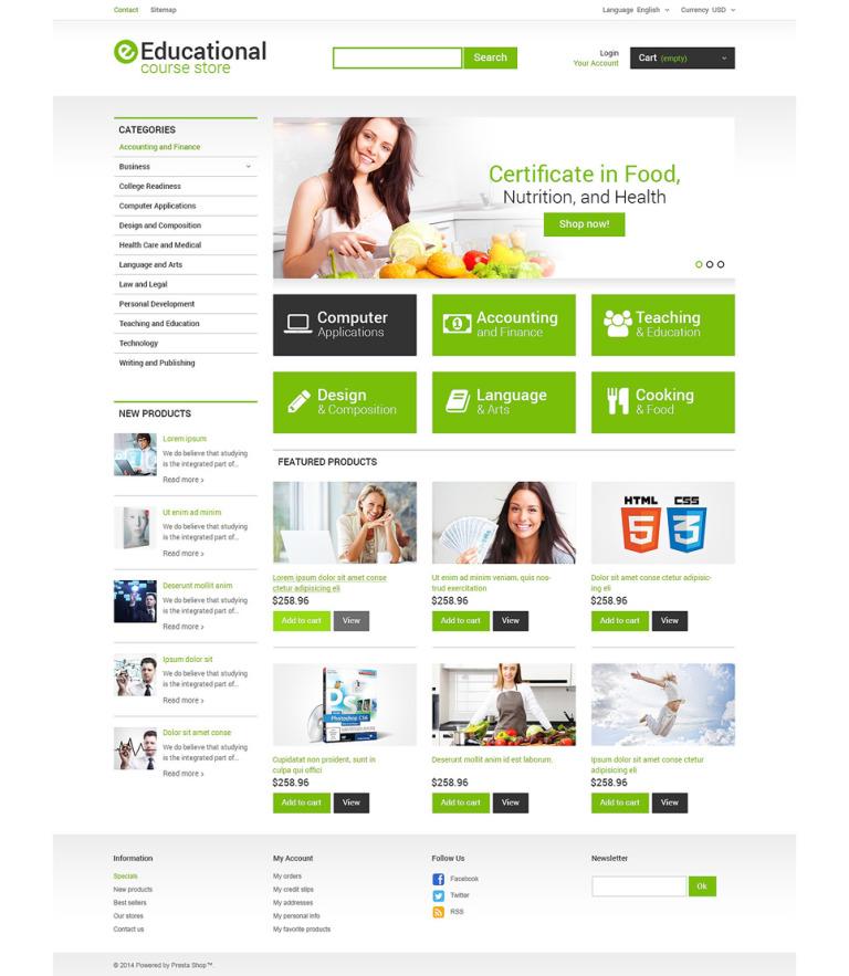 Educational Courses PrestaShop Theme New Screenshots BIG