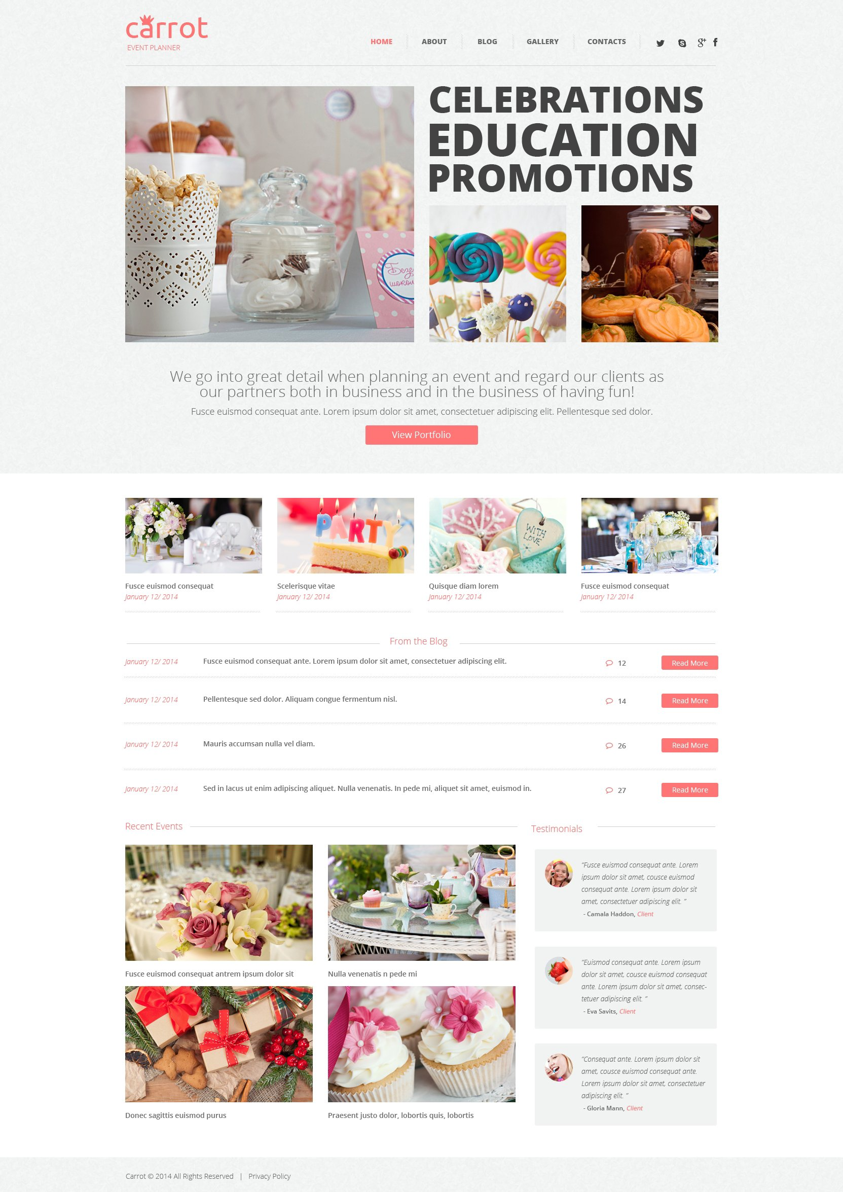 Event Planner WordPress Theme - screenshot
