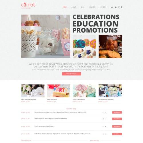 Carrot - HTML5 WordPress Template