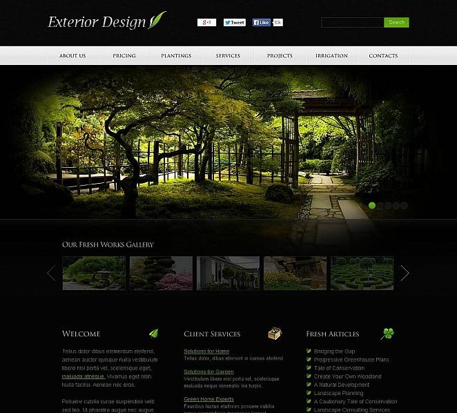 Exterior design flash cms template 48367 for Car exterior design software download