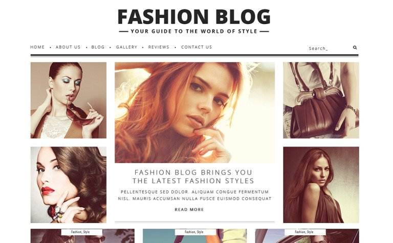 Fashion Blog WordPress Theme #48361