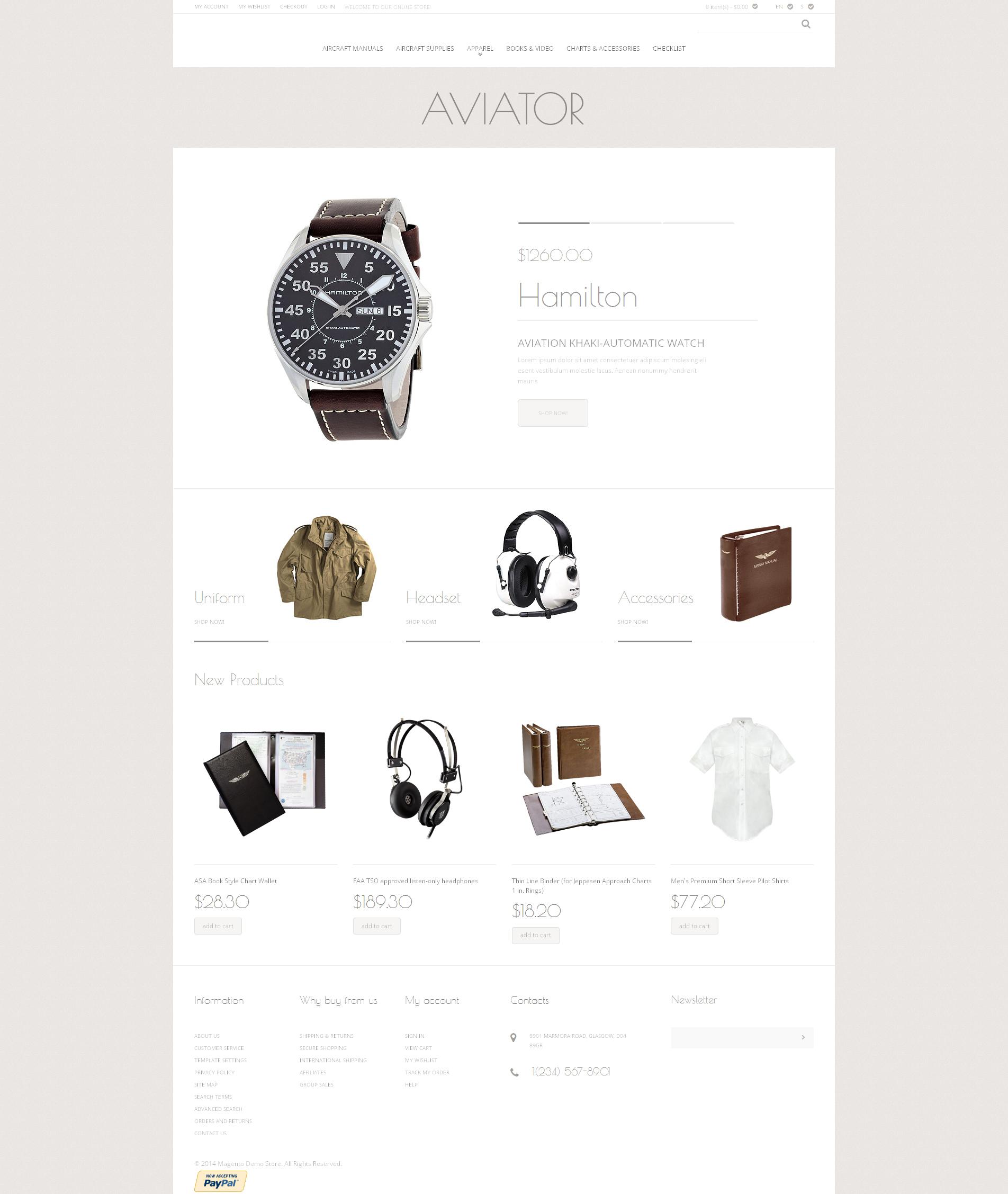Fashion Store Responsive Magento Theme - screenshot