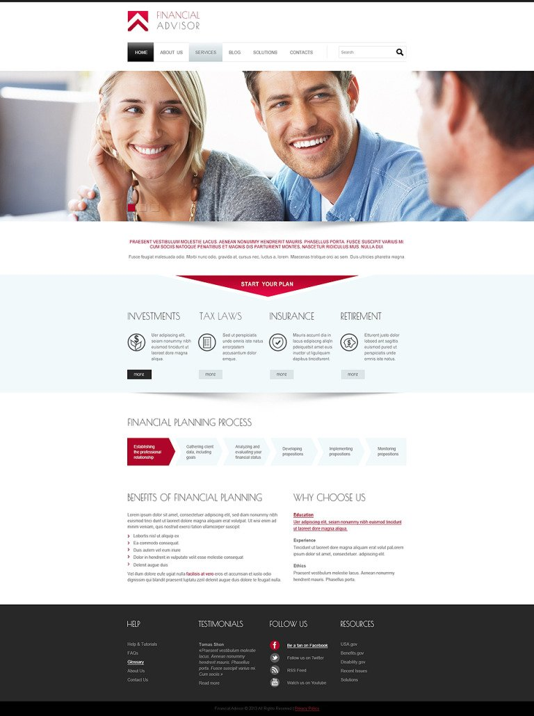 Financial Advisor Responsive Joomla Template New Screenshots BIG