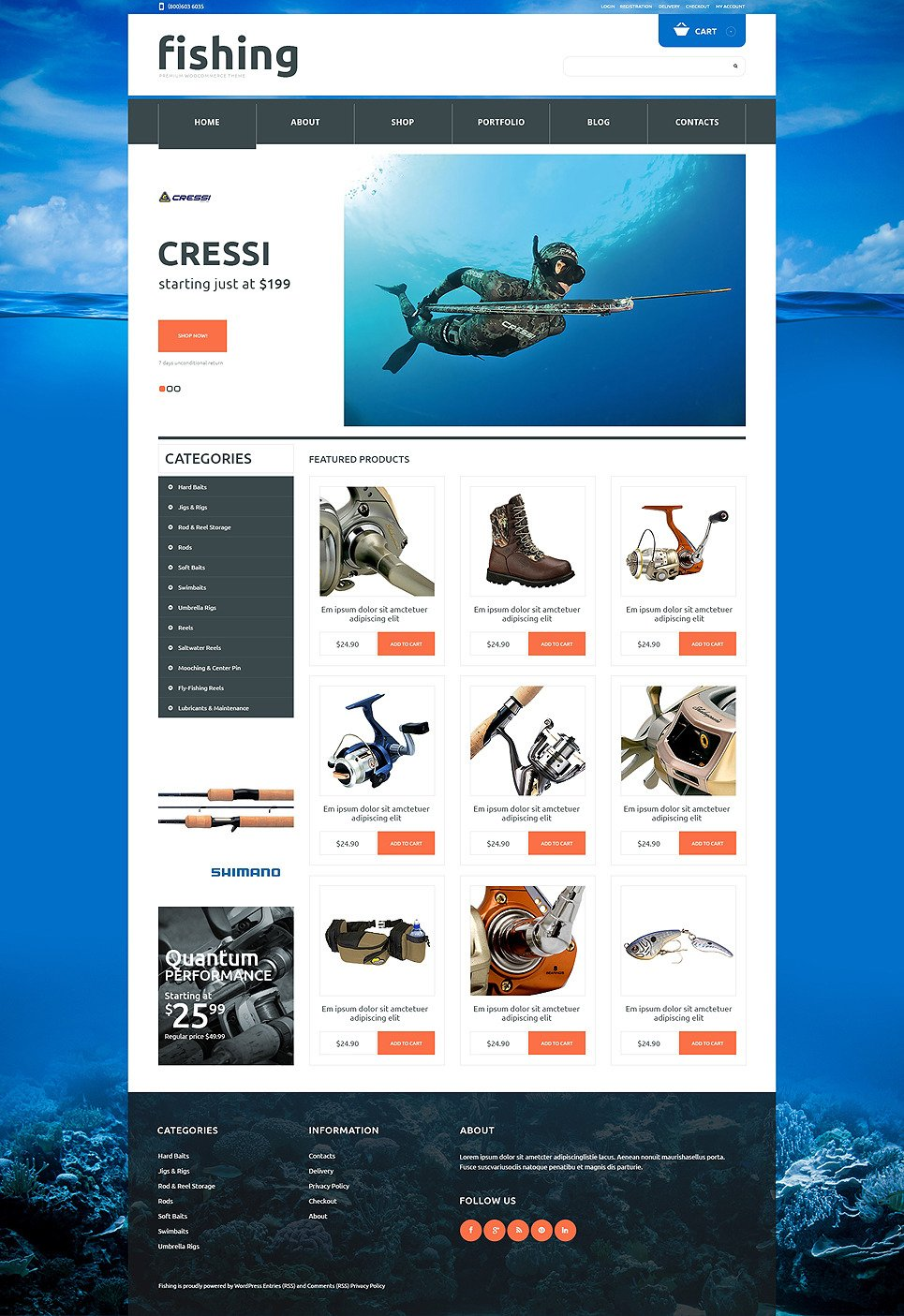 Fishing Responsive WooCommerce Theme New Screenshots BIG
