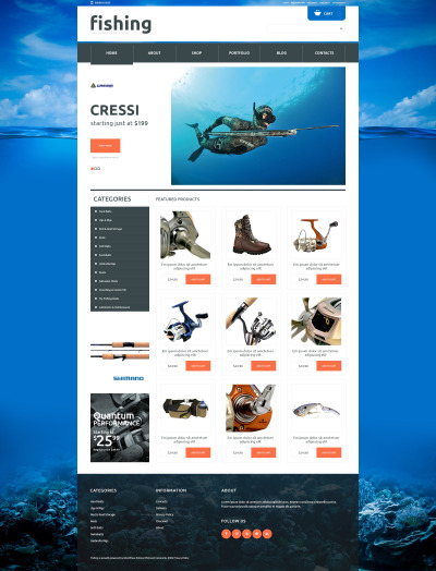 Fishing Responsive WooCommerce Theme #48353