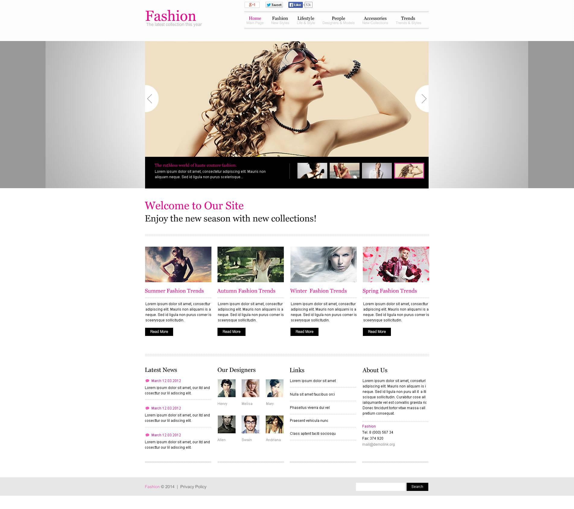 Beste Mode Blog Vorlage Fotos - Beispiel Business Lebenslauf Ideen ...
