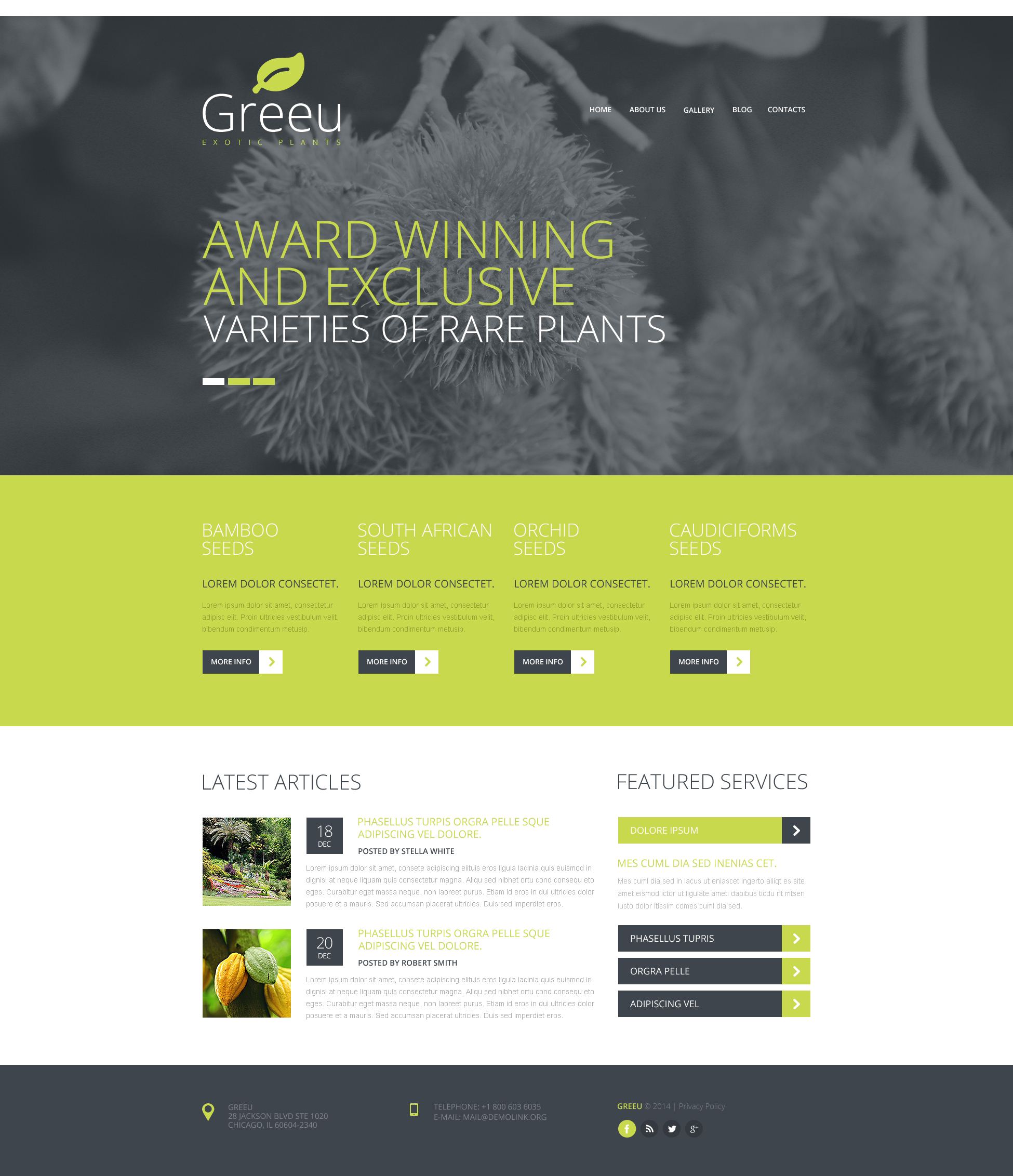 Garden Design Responsive Website Template #48350