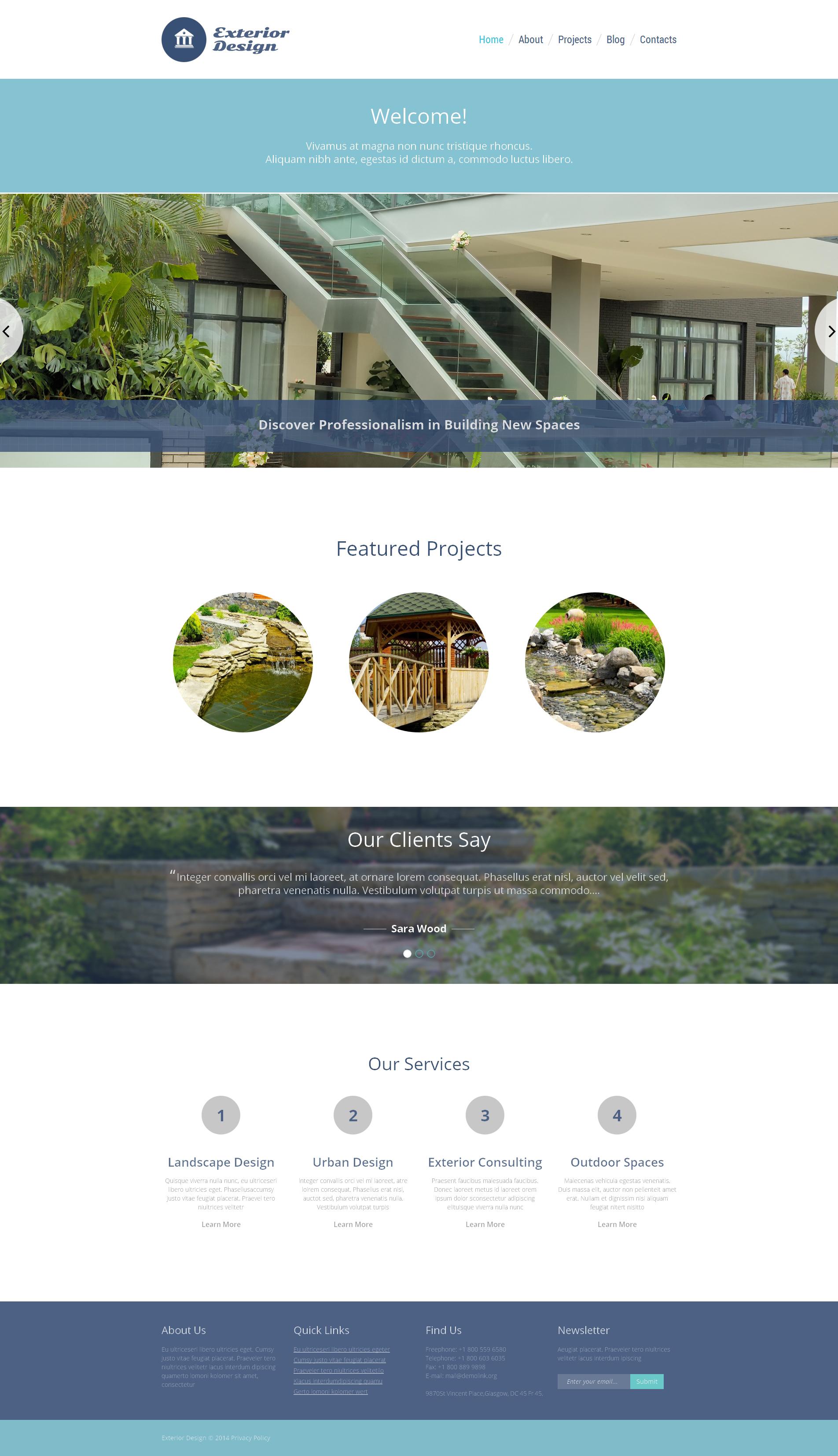 Attractive Garden Design WordPress Theme