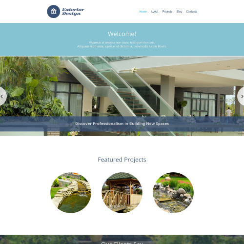 Exterior Design  - HTML5 WordPress Template