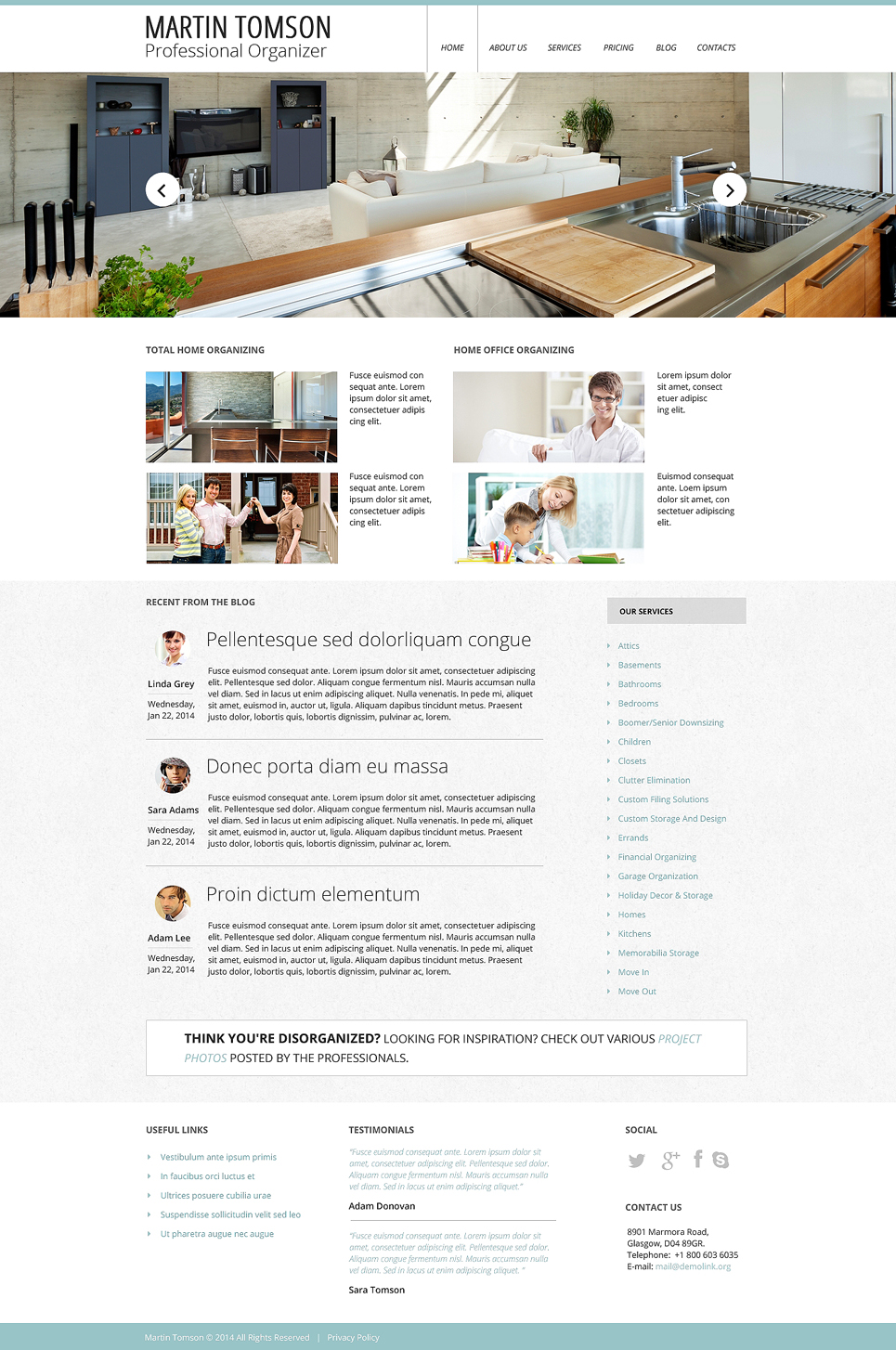 Interior Design Responsive Website Template 48394