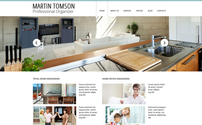 Interior Design Responsive Website Template New Screenshots BIG