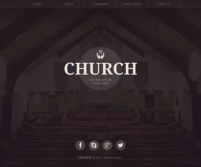 Luxusní Moto CMS HTML šablona na téma Křesťanství New Screenshots BIG