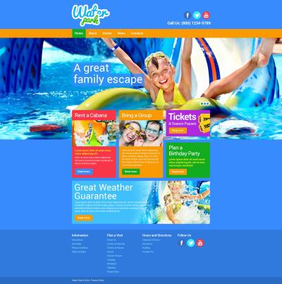 Modèle Web adaptatif  pour site de parc d'attractions