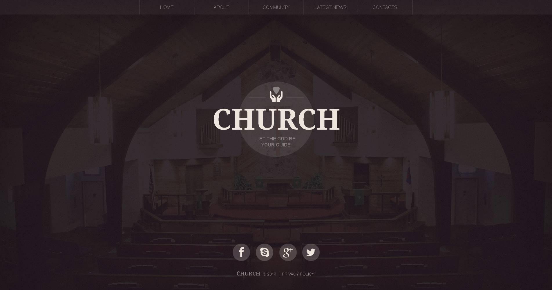 Moto CMS HTML Vorlage für Christliche #48390