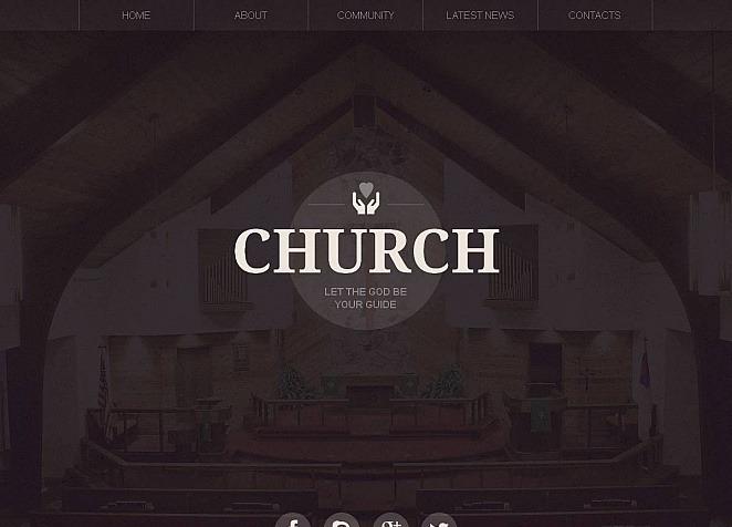 Moto CMS HTML Vorlage #48390 für Christliche