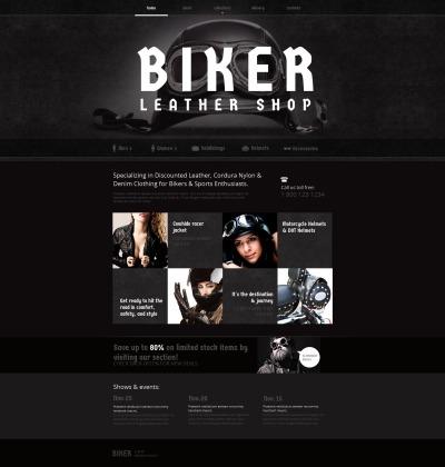 Biker Club MotoCMS HTML шаблон