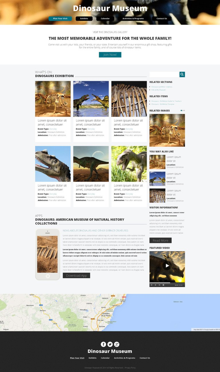 Museum Drupal Template New Screenshots BIG