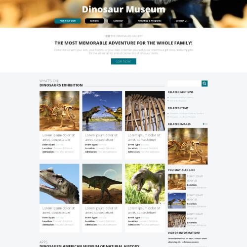 Dinosaur Museum - HTML5 Drupal Template