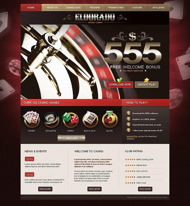 Online Casino Moto CMS HTML Template New Screenshots BIG