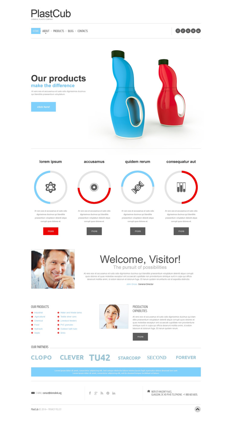 Packaging Responsive Website Template New Screenshots BIG