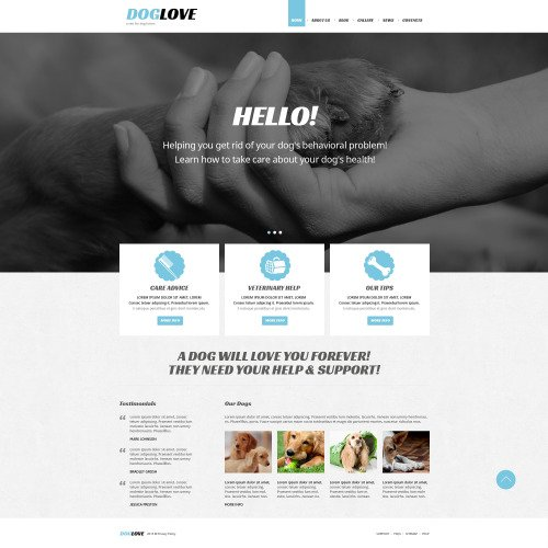 Dog Love - Joomla! Template based on Bootstrap