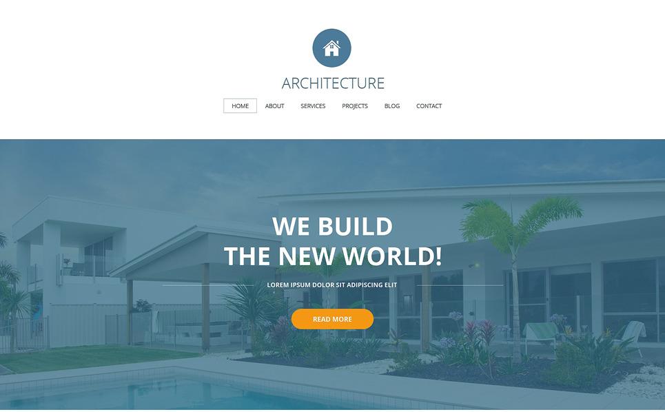 Plantilla Web Responsive para Sitio de Empresa de construcción New Screenshots BIG