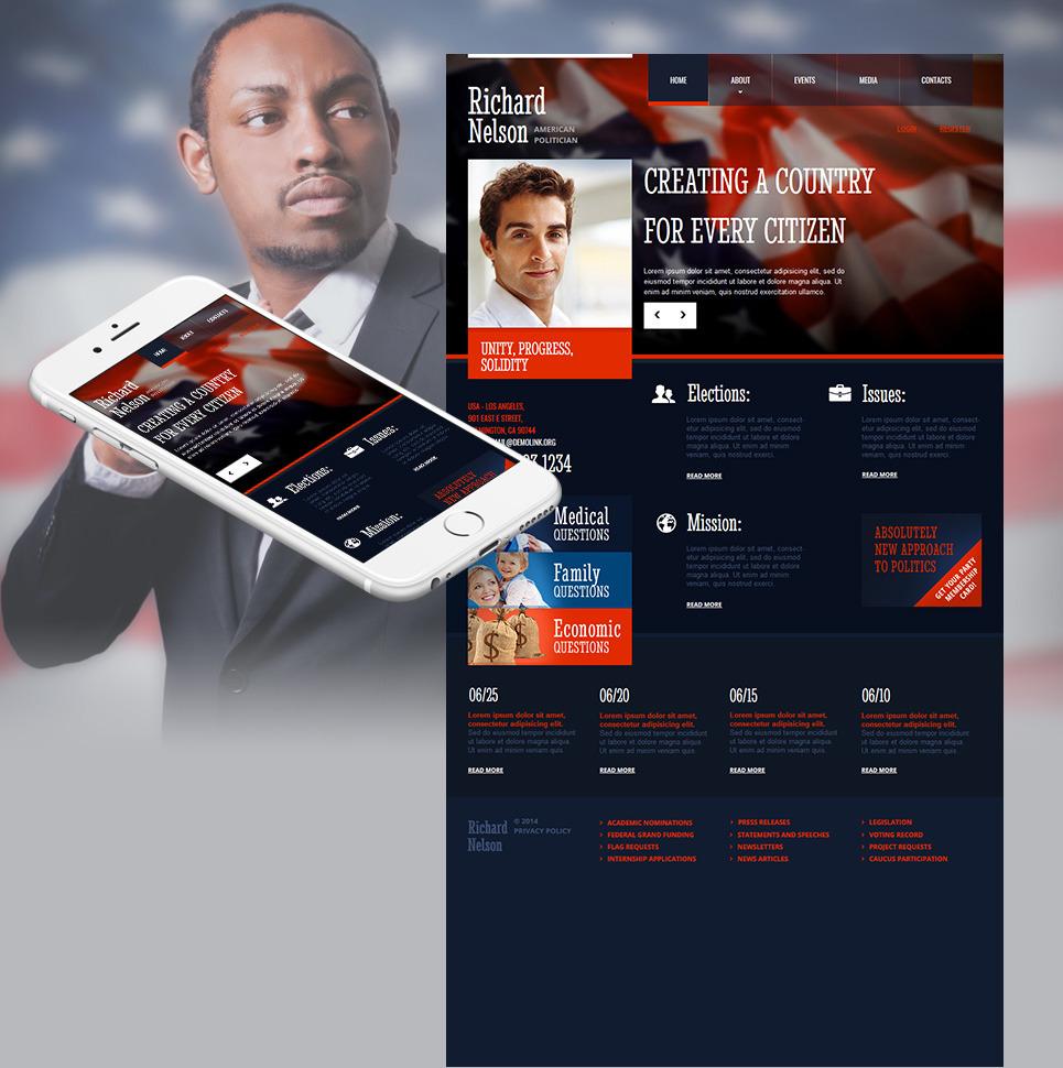 Political Candidate Moto CMS HTML Template New Screenshots BIG