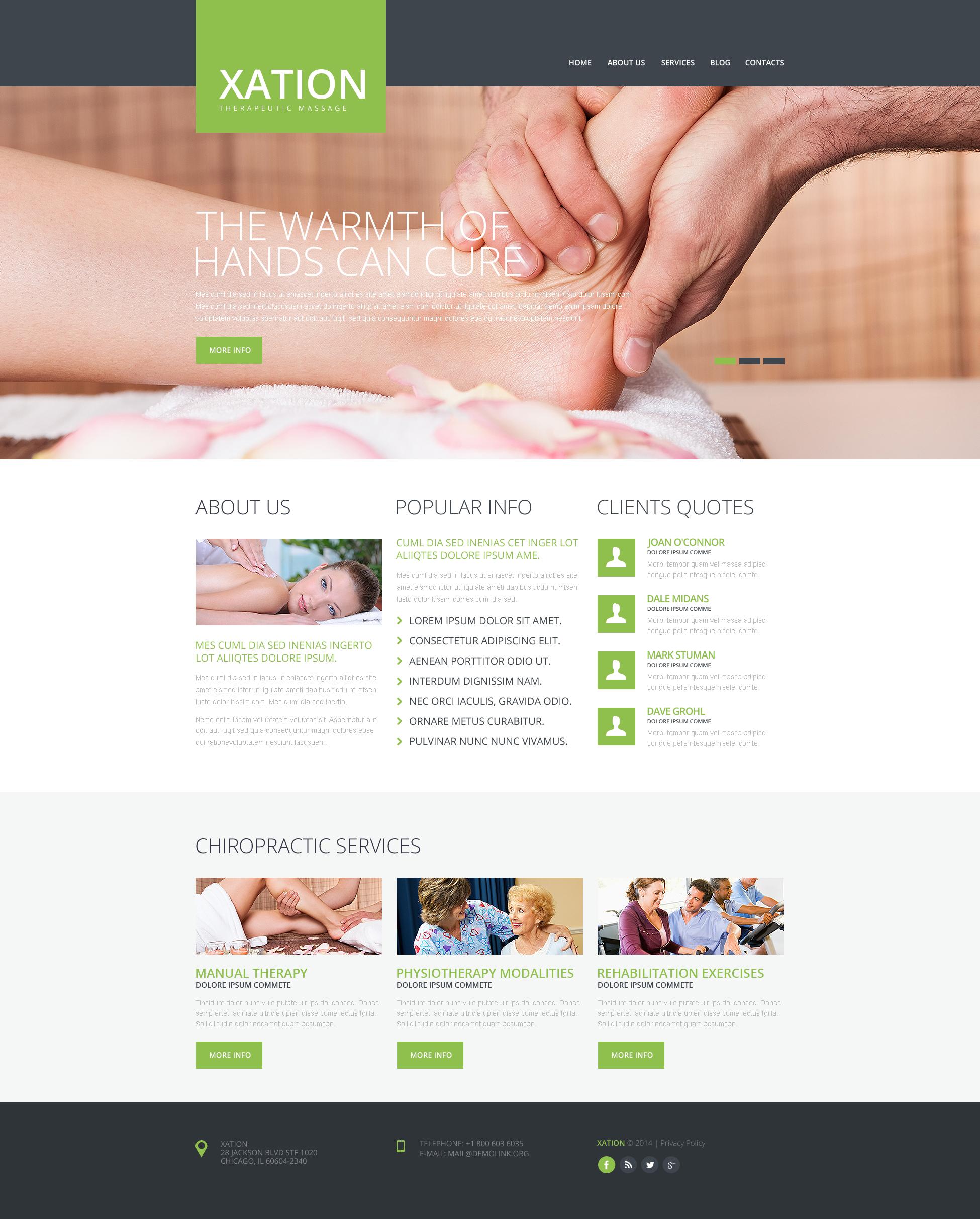 Responsive Masaj Salonu Web Sitesi #48351