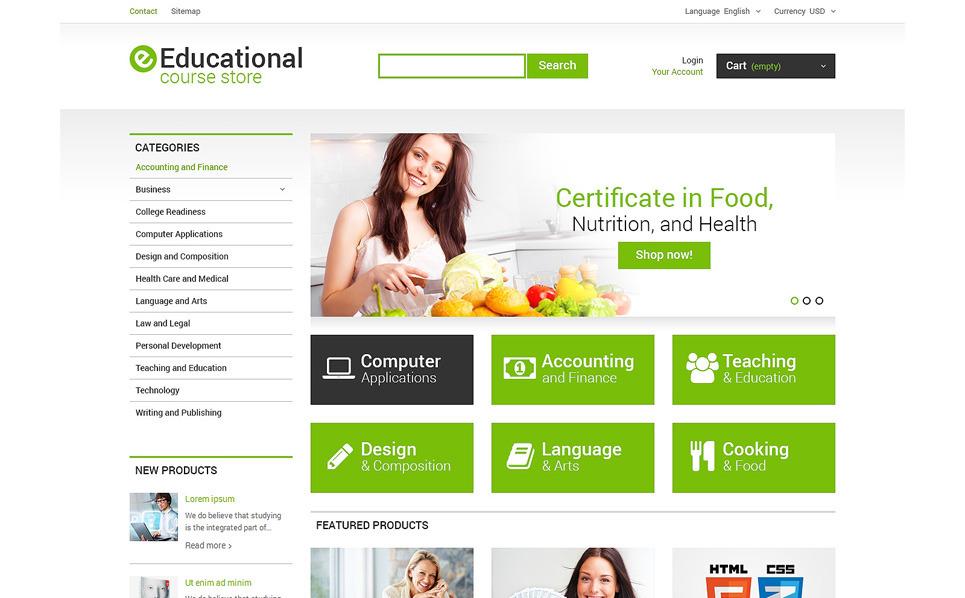 Responsives PrestaShop Theme für Berufsausbildung  New Screenshots BIG