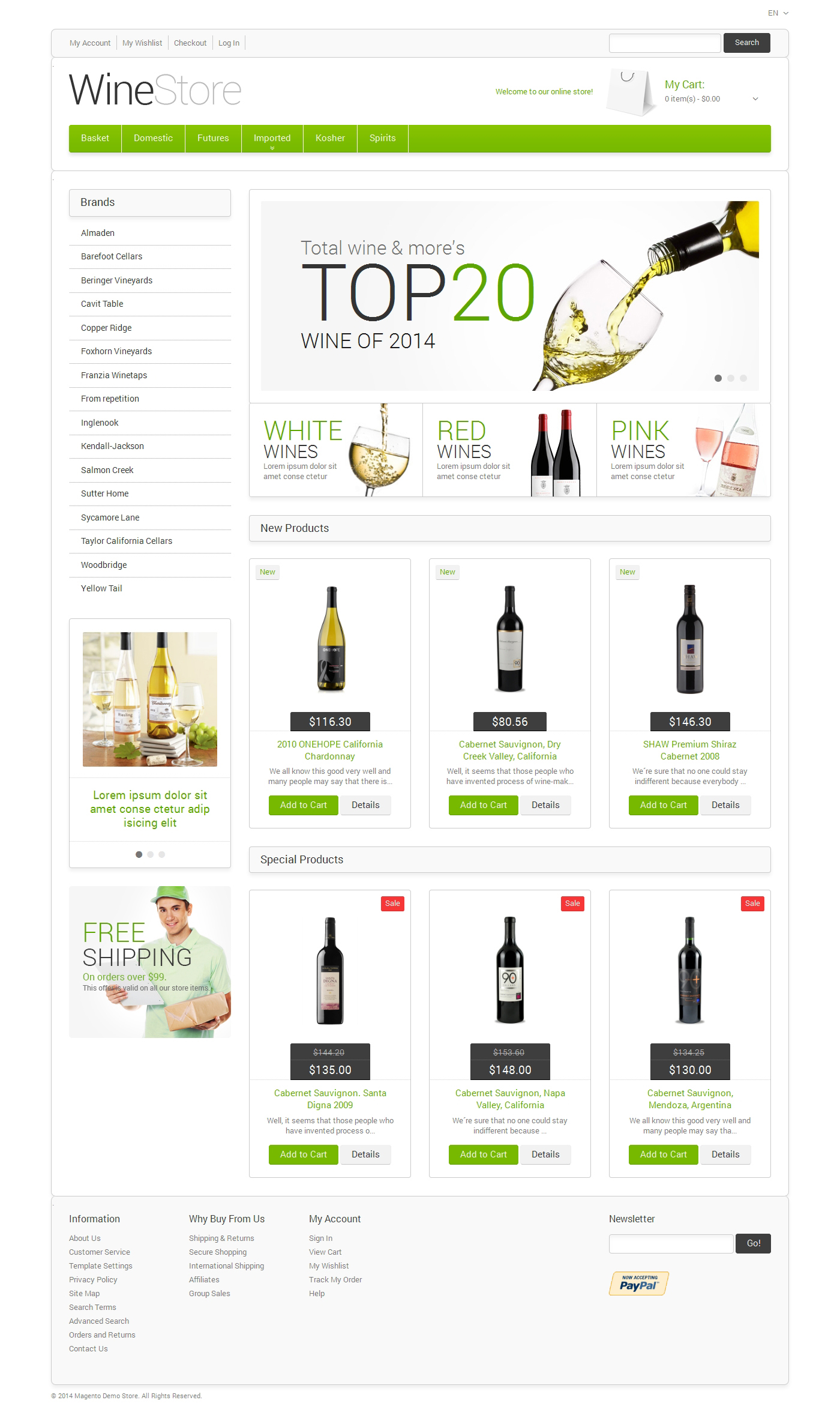 Responsivt Wine for Your Delight Magento-tema #48333