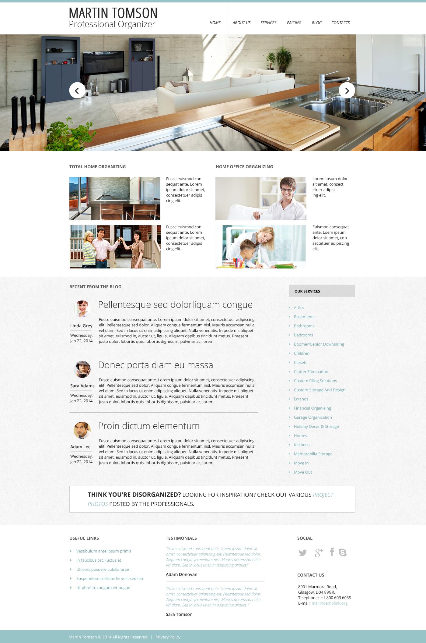 Responsywny szablon strony www #48394 na temat: wyposażenie wnętrz - zrzut ekranu