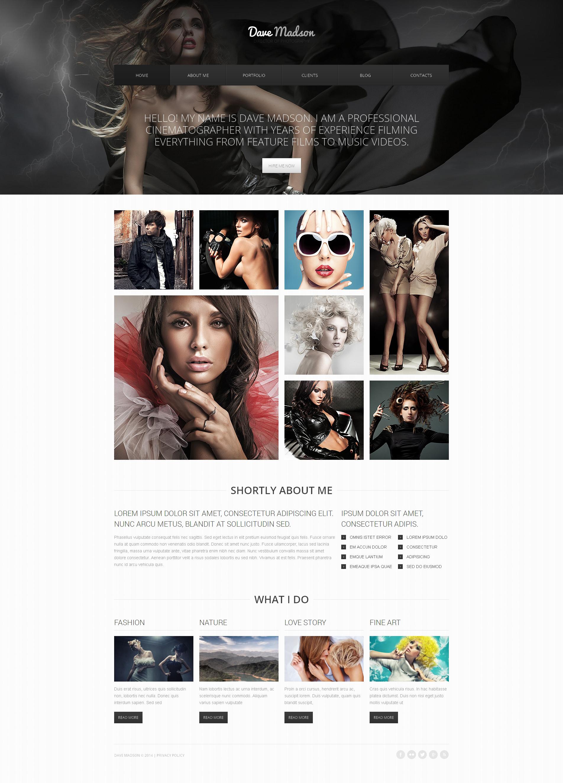 Reszponzív Fényképész portfóliók témakörű Drupal sablon 48315