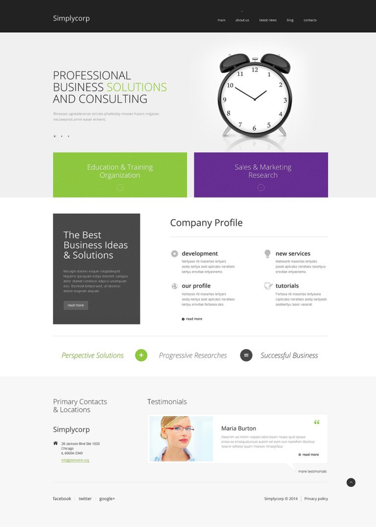 Simplycorp WordPress Theme New Screenshots BIG