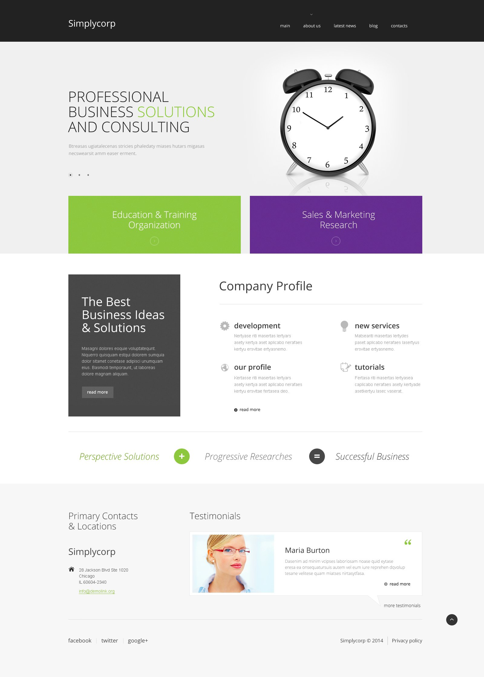 Simplycorp WordPress Theme - screenshot