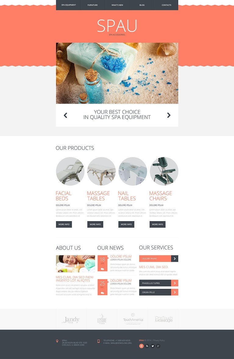 Spa Accessories Responsive Website Template New Screenshots BIG