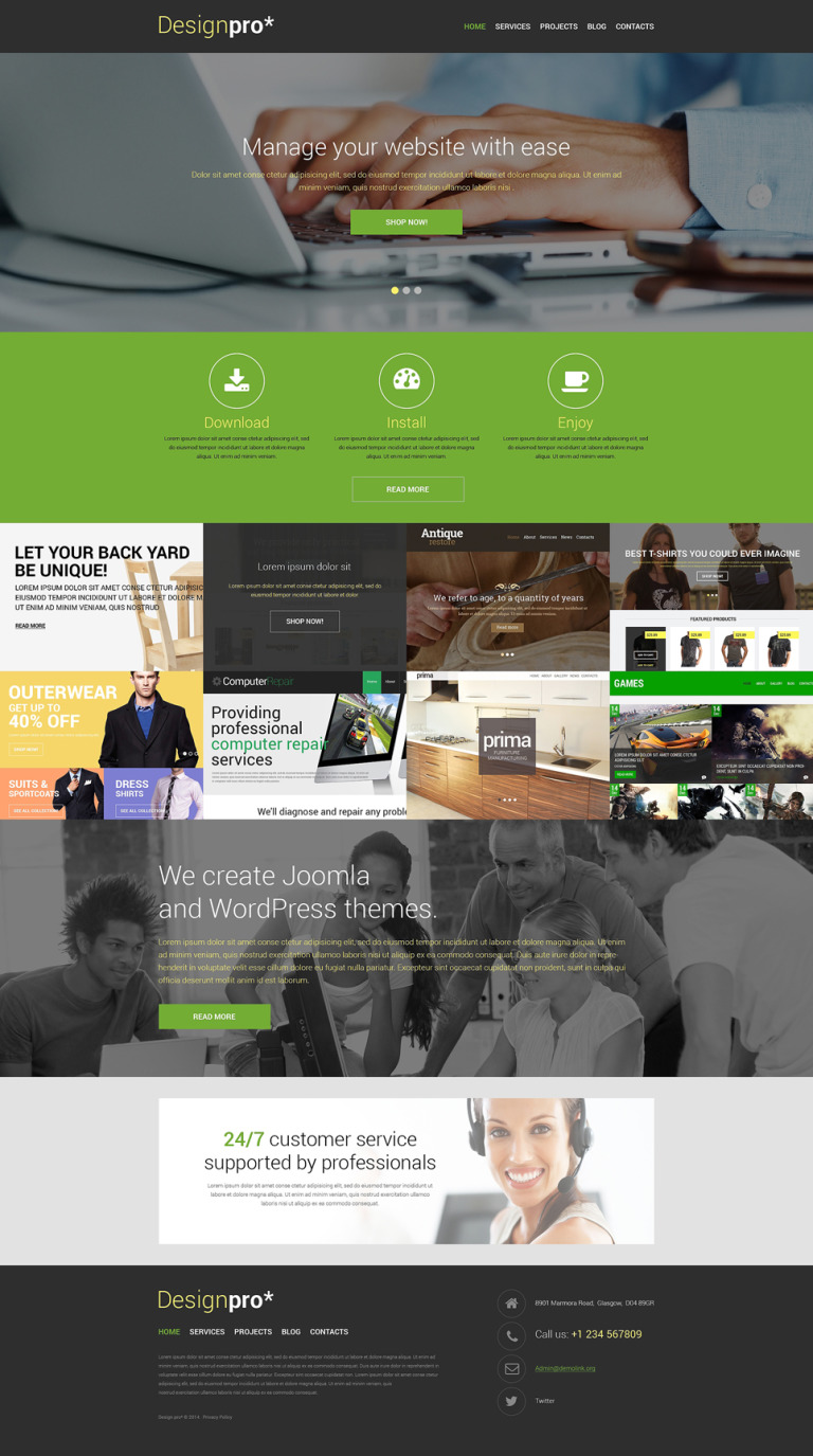 Stock Photo WordPress Theme New Screenshots BIG