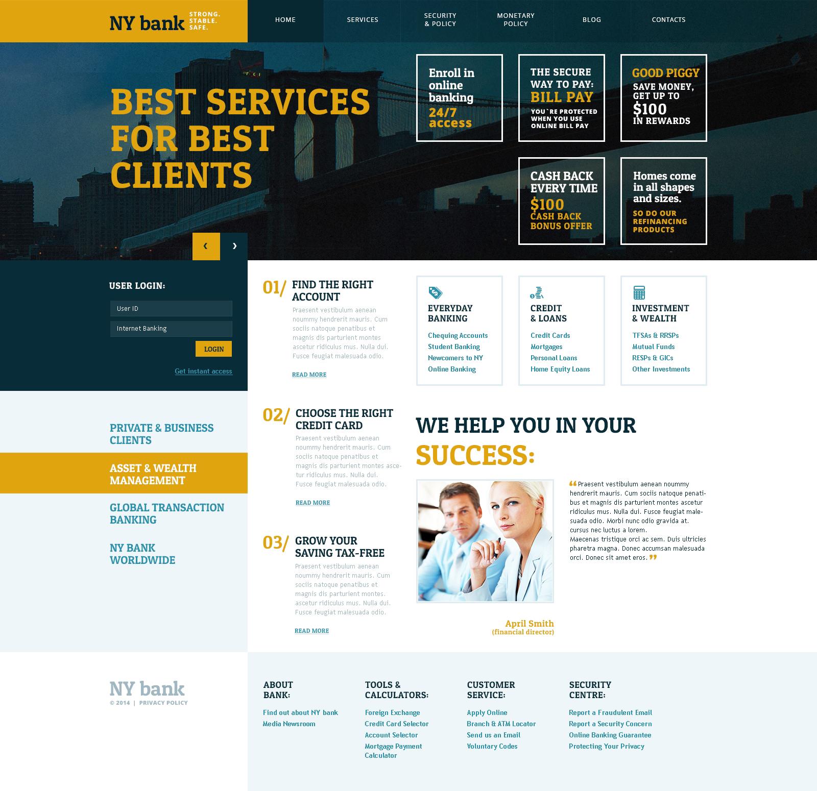 Tema De WordPress #48360 para Sitio de Bancos