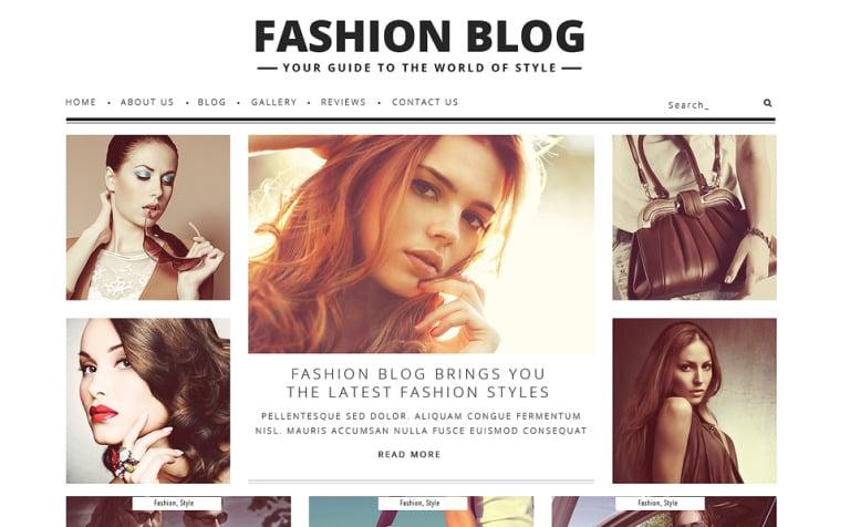 Tema de WordPress #48361 para Sitio de Bloges de moda