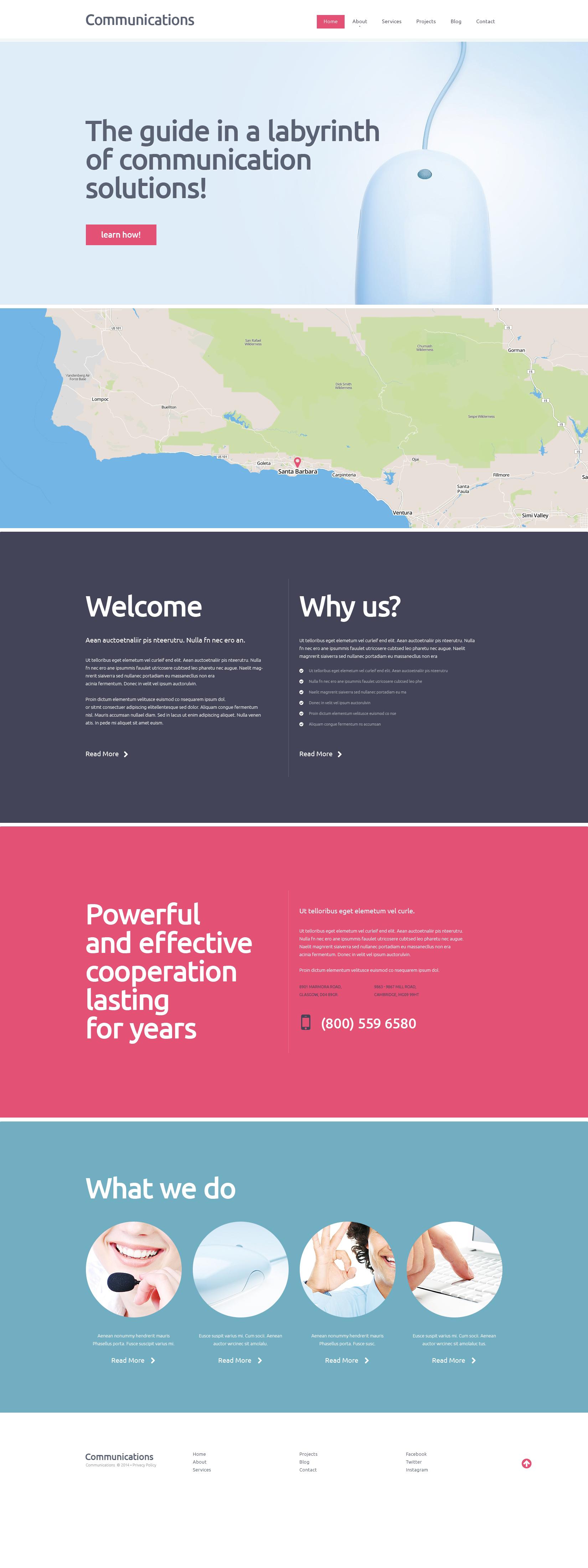 Tema De WordPress Responsive para Sitio de Comunicaciones #48362