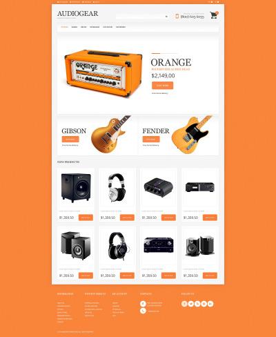 Audio Store Responsive Tema Magento
