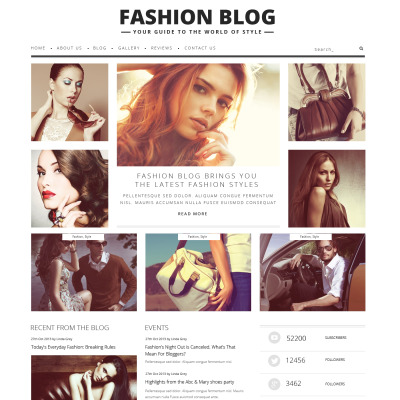Tema WordPress para Sites de Blog de Moda №48361