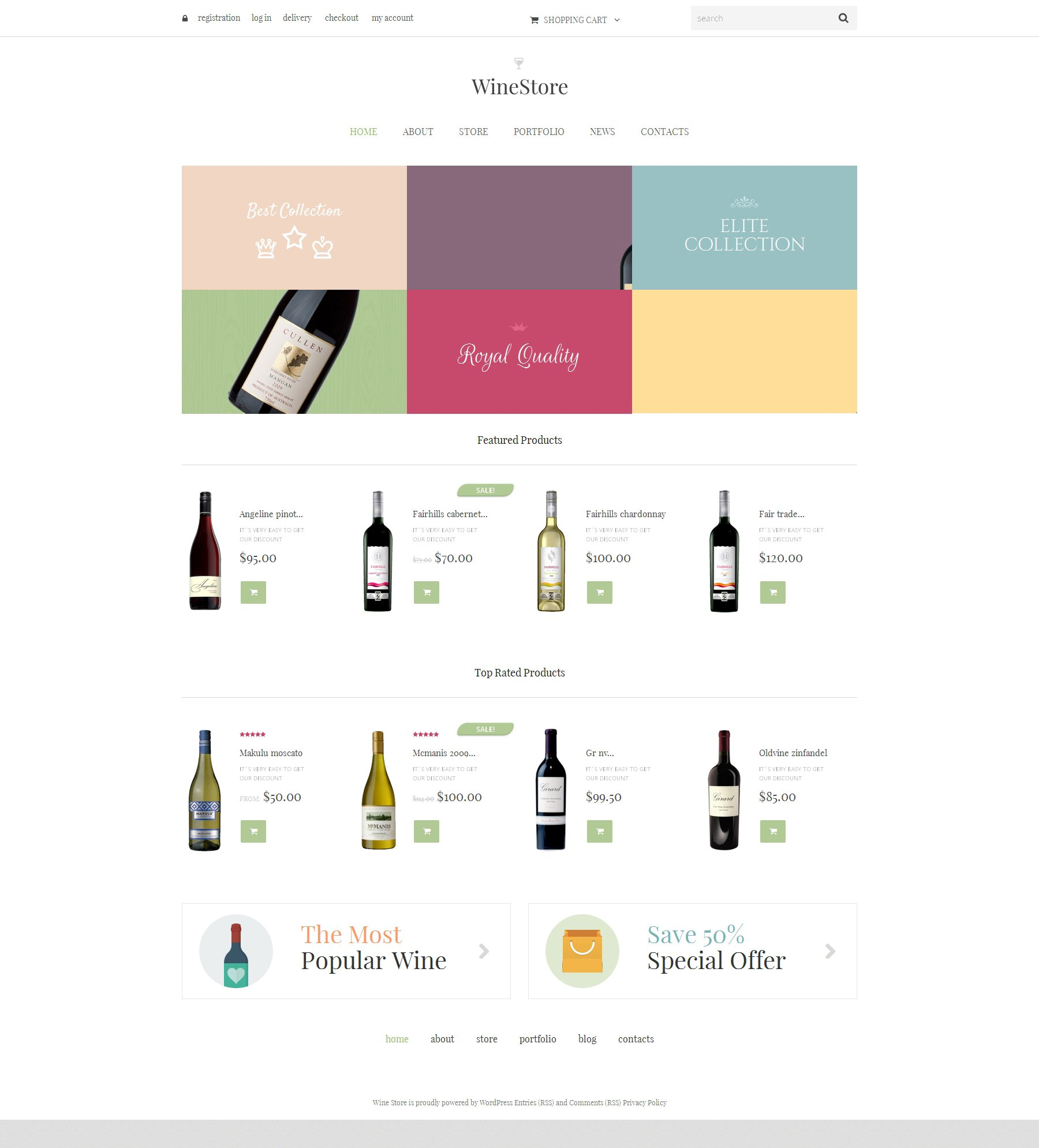 "Template WooCommerce Responsive #48364 ""Wine for Your Delight"""